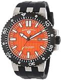 Swiss Legend Men's 10126-06-BB Challenger Orange Textured Dial Black Silicone Watch, Watch Central