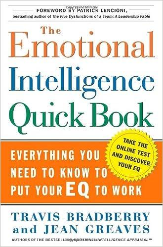 The Emotional Intelligence Quick Book: Travis Bradberry, Jean Greaves,  Patrick Lencioni: 9780743273268: Amazon.com: Books