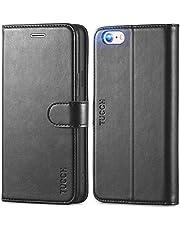 جراب TUCCH لهاتف iPhone 6s، جراب iPhone 6، جراب محفظة iPhone 6 مع [مسند] [غلاف داخلي من مادة TPU] [فتحات للبطاقات] [حامل عرض] جراب جلد صناعي مغناطيسي متوافق مع iPhone 6/6s(4. 7 بوصات)، أسود