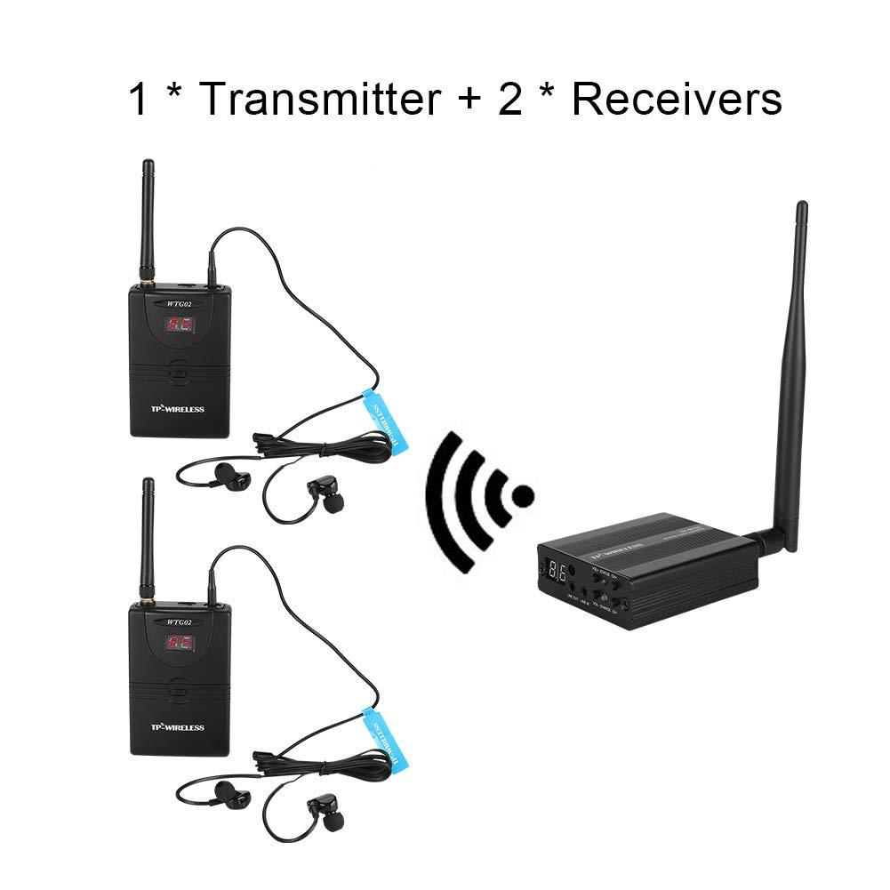 UE Wendry Monitoraggio da Studio Registrazione,Universalmente Adatto,1 a Molti,Sistema Wireless in Ear Monitor 2.4GHz Sistema Digitale Professionale in Ear Monitor Sistema Audio sul palco
