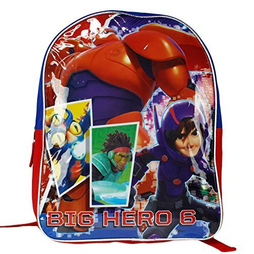Big Hero 6 Disney Baymax Hiro School Backpack Bag - 15 Inch]()