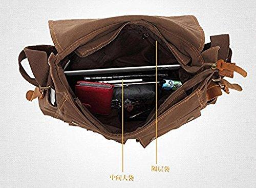 hombro para color al hombre de vintage ® la bolsas DAYISS lona caqui bolso mensajero mochilas de qxRv64Pntw