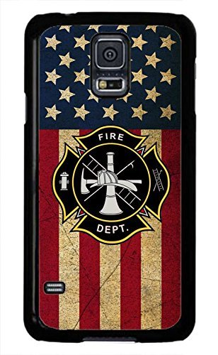 Cell World LLC - U.S Firefighter Fire Rescue dept. Fireman Logo o.ck Case Cover Hard Rubber Black Case Cover Compatible with Samsung Galaxy Note 10 + Plus (6.8 Inch 2019 Model) (Best Nhl Fighters 2019)