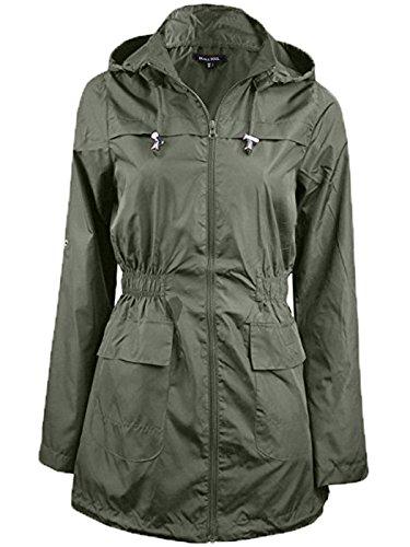 Rain Love Lightweight Plain Parka Ladies Khaki Two Kagool Plus Jacket Womens Mac Size Polyester Hooded Fishtail Fashions My Raincoat Pockets wCrq0YxSr