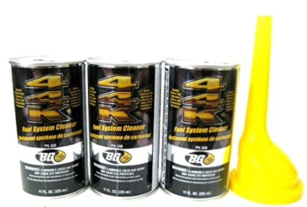 BG 3 Pack 44k Fuel System Cleaner w/ Funnel – 3 Cans : Great