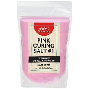 Pink Curing Salt #1 (Premium Prague Powder) 2.5 lb Bag by Wishful