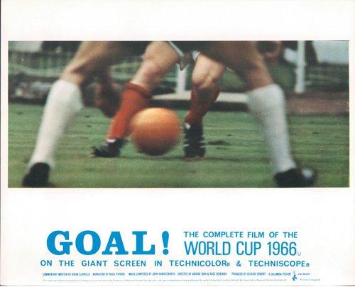 GOAL! THE WORLD CUP 1966 ENGLAND ORIGINAL LOBBY CARD SOCCER FOOTBALL RARE