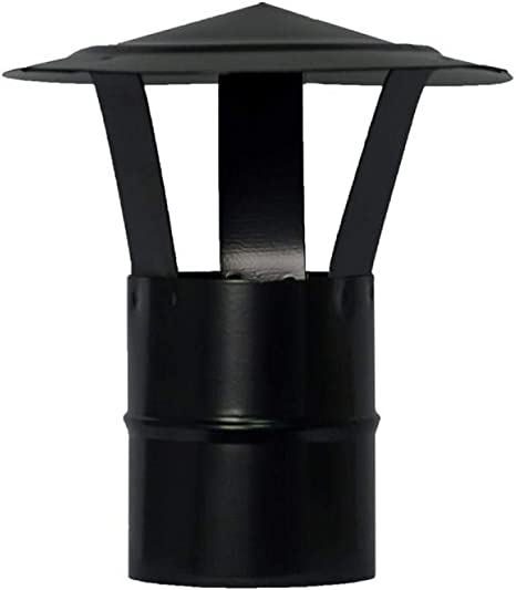 Color Negro /Ø Alta resistencia Chimenea Wolfpack Tubo de Estufa Acero Vitrificado Negro /Ø 120 mm Ideal Estufas de Le/ña