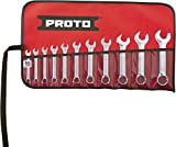 Stanley Proto J1200ES-11 12 Point Full Polish Short Combination Wrench Set, 11-Piece