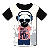 riverccc6.1500 Music Dog Little Rock Star Youth T-Shirt Boys Girls Tee
