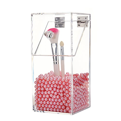 (Makeup Brush Holder for Cosmetic Organizer - Storage for Your Large, Small, Wide and Narrow Brushes and Cosmetics, Including Beautiful Pink)