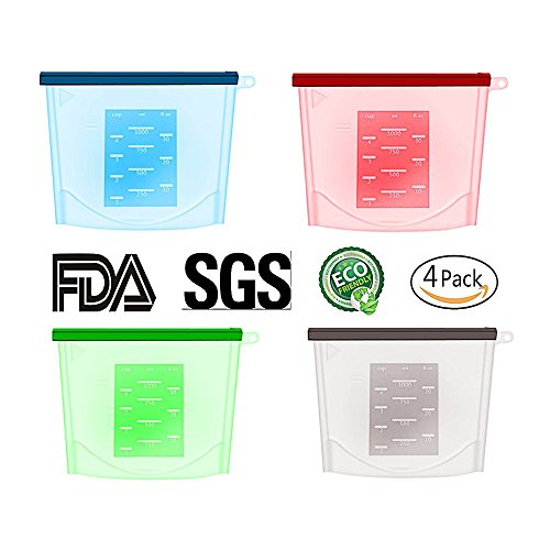 Reusable Silicone Food Preservation Bag - Airtight Seal Food