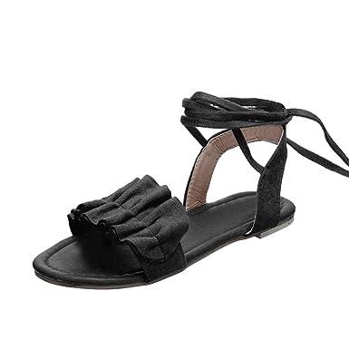 6255e5068125f Amazon.com: Boomboom Women Shoes, Women Ruffles Round Toe Flat Heel ...