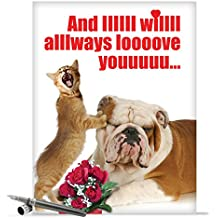 "J2180 Jumbo Funny Valentine's Day Card: Jumbo And IIIIII Will Always Valentine's Day Card, with Envelope (Large Size: 8.5"" x 11"")"