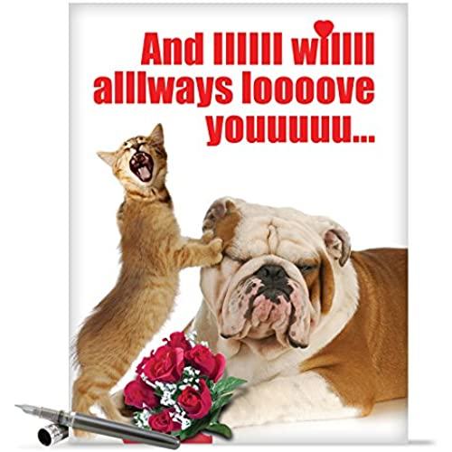 J2180 Jumbo Funny Valentine's Day Card: And IIIIII Will Always With Envelope (Extra Large Version: 8.5 x 11) Sales