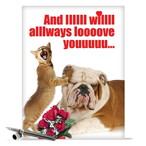 J2180 Jumbo Funny Valentine's Day Card: And IIIIII Will Always With Envelope (Extra Large Version: 8.5'' x 11'')