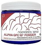 Alpha GPC Powder (50%) | 30 Grams | Choline Supplement | Brain Health Supplement | Supports Healthy Brain Function | Enhance Cognition, Memory + Focus