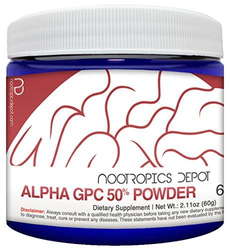 Alpha GPC Powder (50%) | 30 Grams | Choline Supplement | Brain Health Supplement | Supports Healthy Brain Function | Enhance Cognition, Memory + Focus For Sale