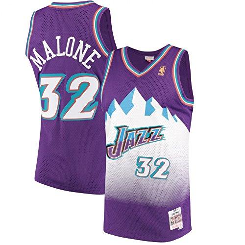 (John Stockton Utah Jazz Mitchell and Ness Men's Purple Throwback Jesey 4X-Large)