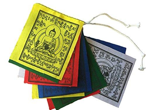 (Hands Of Tibet Mini Medicine Buddha Prayer Flags Set of 10 Flags)