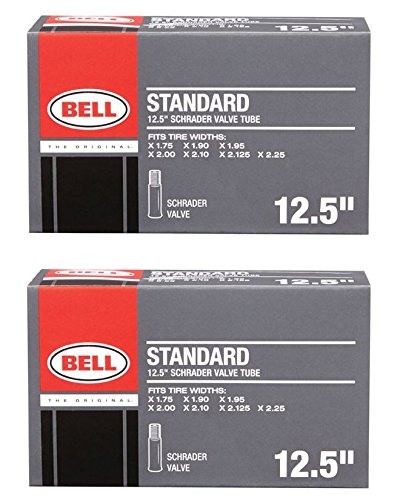 Bell 12 1/2 inch Universal Inner Tube, Width Fit Range 1.75 inch to 2.25 inch, Black 2 Pack