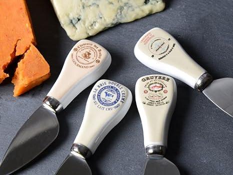 Creative Tops estilo Vintage Gourmet Cuchillos para queso en caja de regalo, juego de 4