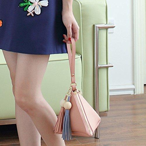 Tassel À Bleu Triangle Sac Rouge À Embrayage Fashion Femmes 5 Main Junlinto Couleurs Sac Sac Forme Perles Main BxR1Uf