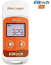 Elitech PDF Mini USB Enregistreur de données de température, Haute Précision Capteur, 32000 points de Capacité d'enregistrement (RC-5+)