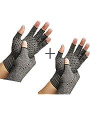 RZJZGZ Compressie Artritis Handschoenen Vingerloze Handschoenen voor Artritis Reumatoïde & Artrose Verhogen Circulatie Verminderen Pijn Mannen & Vrouwen Open Vinger