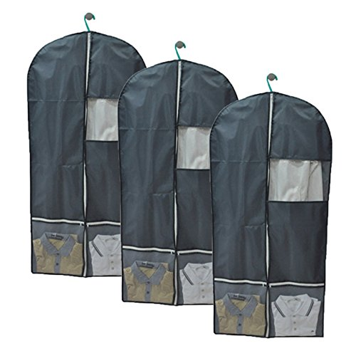 Dance Costumes Undergarments (Garment Bags, Yerwal Set of 3 Breathable Garment Bags Cover with Clear Window, Perfect Stroage for Luggage, Suit, Dress, Coat or Travel)