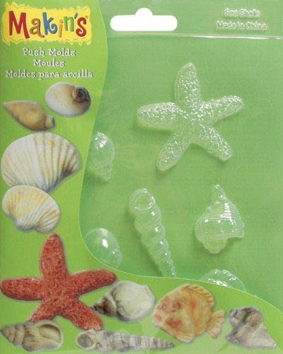 Makin's Clay Push Molds-Sea Shell 1 pcs sku# 655172MA ()