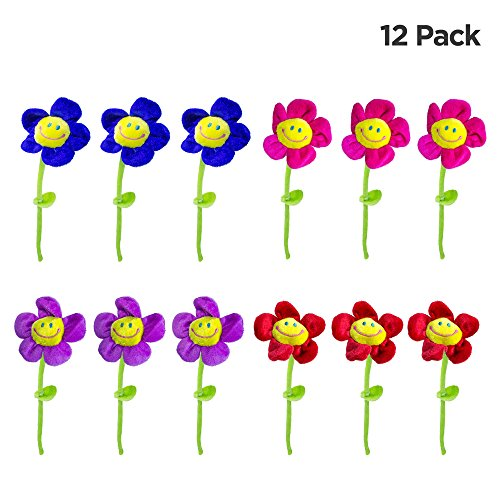 Windy City Novelties Plush Daisy Flowers-13-12 Pack ()