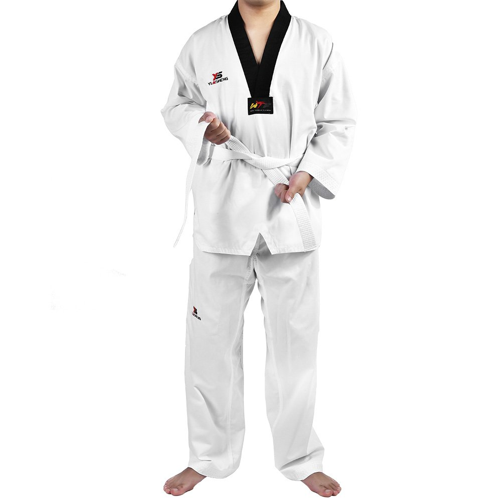 Alomejor Uniforme de Taekwondo, Manga Larga de algodón, con ...