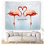 WCHUANG Flamingo Tapestry Wall Hanging Wall Art, Dorm Décor Beach Towel (M, yc001-3)