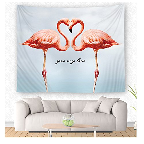 WCHUANG Flamingo Tapestry Wall Hanging Wall Art, Dorm Décor Beach Towel (M, yc001-3) by WCHUANG