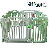 Kiddygem CUDDLE ME Extra Tall baby playpen (10 panels) - Green playard (15.5 sq.ft)