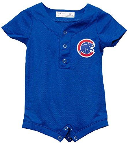 (Outerstuff Chicago Cubs Alternate Blue Newborn Cool Base Romper (0-3 Months))