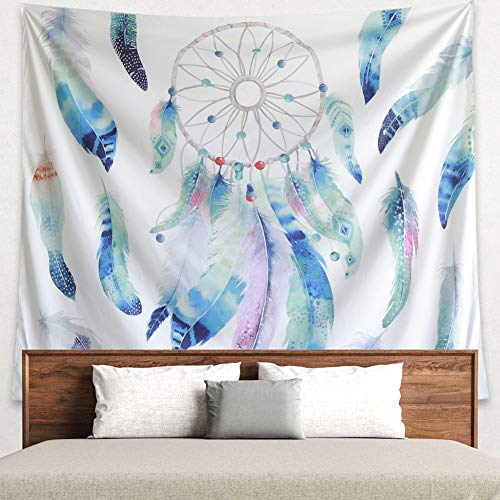 Grace store Dreamcatcher Tapestry Boho Wall Tapestry Home Decor Hippie Tapestry for Bedroom Wall Art Decor, Beach Blanket, W59 x L51 ()