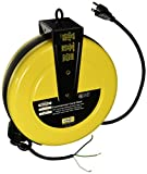 Hubbell Wiring Systems HBLC25163 Commercial Cord Reel with Wire Lead, 25' Cable Length, 16/3 SJT Cable Type, 1250W, 10 Amp, 125VAC, Yellow