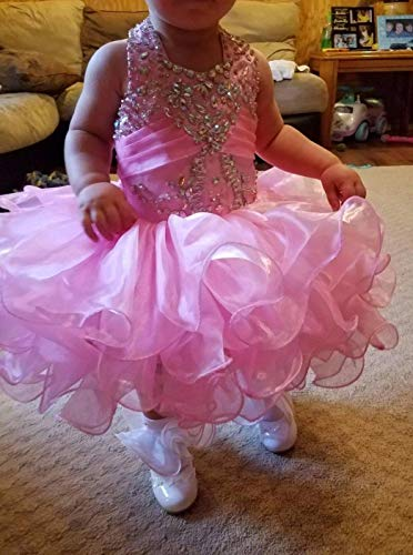 G.CHEN ChengCheng Baby Girls Halter Cupcake National Infant Pageant Dresses 6M