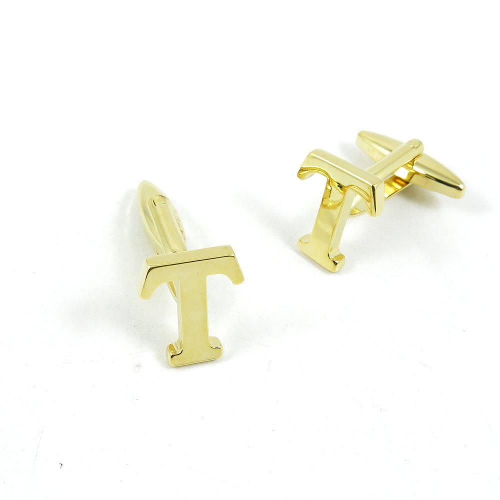 50 Pairs Cufflinks Cuff Links Fashion Mens Boys Jewelry Wedding Party Favors Gift 458DA0 Golden Letter T