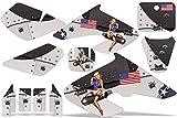 Honda XR50 2000-2003 MX Dirt Bike Graphic Kit Sticker Decals XR 50 TBOMB BLACK