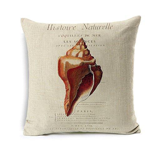 AS-Polyester-Cotton-Linen-Pillow-Cover-Cushion-Cover-PiIlowcase-18-x18-Inches-SeaShellsConch