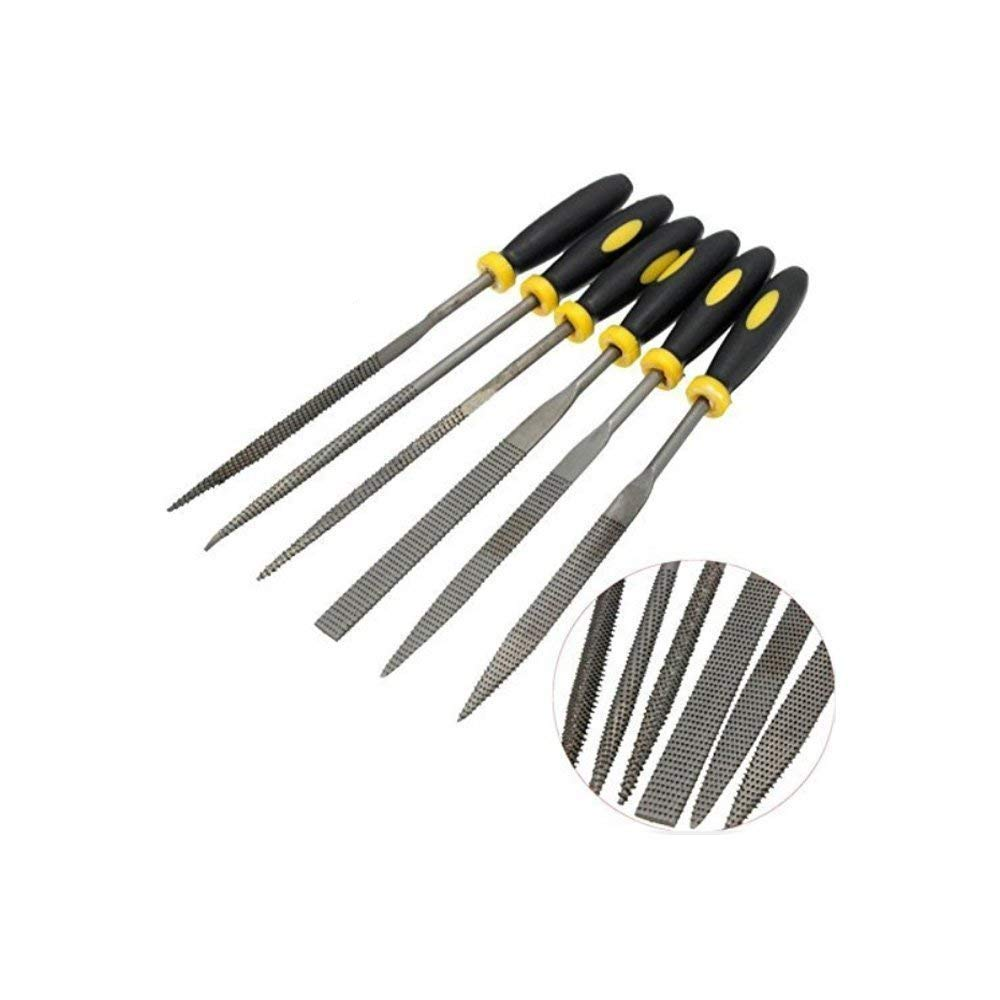 Mini Assorted Hand File Wood Rasp Set with Rubber Handle- 3x140mm(6pcs) TILY