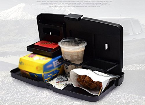 MQYH@ Multipurpose Car Tray - Car Seat Activity & Snack Tray for A More Convenient Time in Your Car Black by MQYH@ (Image #4)