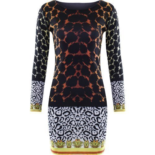 Robe Femme Leopard Imprimé Court Mini Style Nicky Minaj Moulant - imprimé animal léopard tigre, 40 42 M/L
