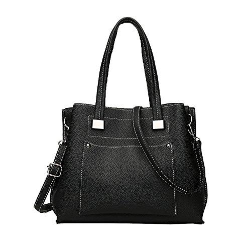 Fashion Pu Casual Top Shoulder Ladies Women's B Crossbody Tote Handbag Large Leather Handle Bags Bag 5UZwxgR