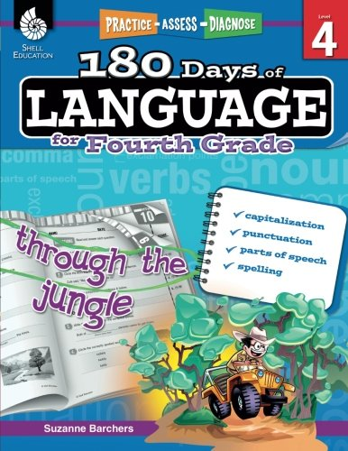 4th Grade Literacy - 180 Days of Language for Fourth Grade – Build Grammar Skills and Boost Reading Comprehension Skills with this 4th Grade Workbook (180 Days of Practice)