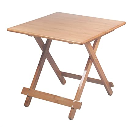NAN Liang Bamboo Folding Table Solid Wood Color Small Square Table Small  Table Portable Home Eating