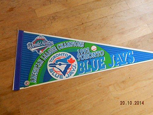 1992 American League Champions Toronto Blue Jays World Series Pennant Nr Mint